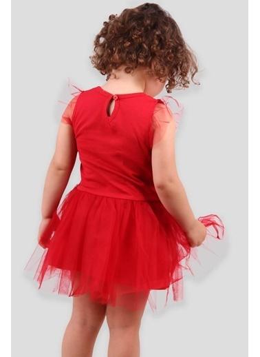 Breeze Kız Çocuk Elbise Pullu Tüllü Kırmızı (3-8 Yaş) Kırmızı